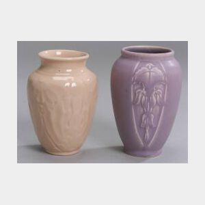 Two Small Rookwood Pottery Vases