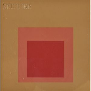 Josef Albers (American/German, 1888-1976)      Lot of Three Images from HOMAGE TO THE SQUARE: TEN WORKS;   Tenuous, Equivocal
