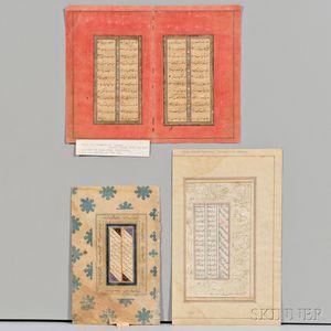 Two Folios and a Bifolium from Illuminated Manuscripts