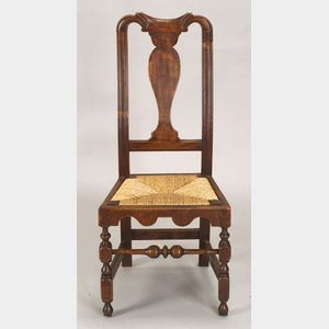 Carved Maple Side Chair