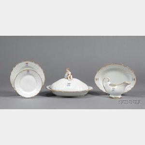 Twelve Royal Copenhagen Porcelain Tablewares
