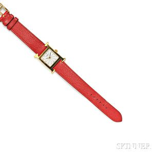 "Lady's ""H-our"" Wristwatch, Hermes"