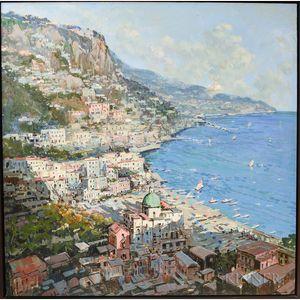 Mario Sanzone (Italian, b. 1946)      Positano