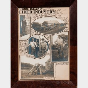 Framed Collage of Early Rhode Island Cider Industry Photographs