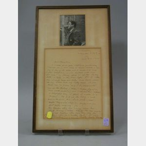 Autograph Letter from James Huneker