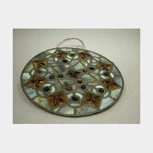 Jeweled Leaded Glass Panel.