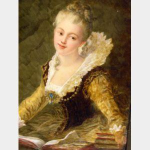 Grace Thayer Painted Portrait on Porcelain