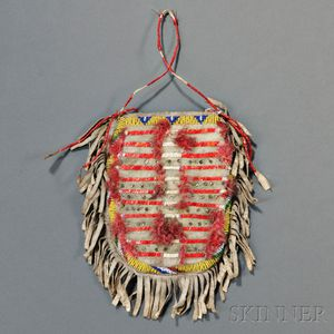 Lakota Beaded and Quilled Hide Bag