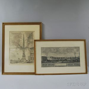 Two Framed European Historical Etchings
