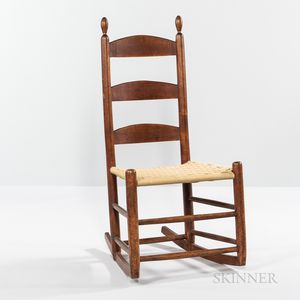 Shaker Red-stained Rocking Chair
