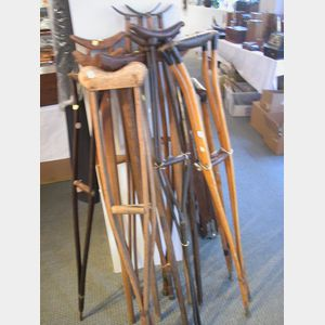 Large Group of Crutches