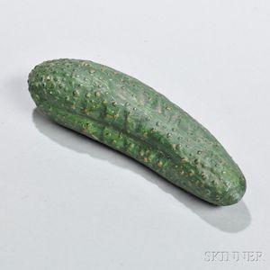 Green-glazed Redware Cucumber