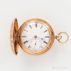 Joseph Johnson 14kt Gold Hunter-case Watch