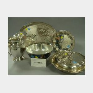 Ten Pieces of Silver Plated Table and Hollowware