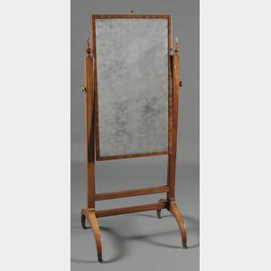 Empire-style Mahogany Cheval Mirror