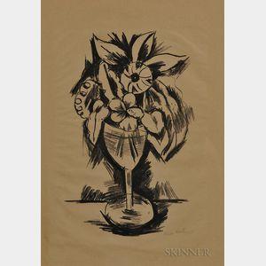 Marsden Hartley (American, 1877-1943)      Flowers in a Goblet #3