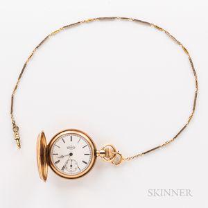 Elgin 14kt Gold Hunter-case Watch