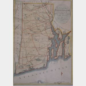 Framed c. 1790 Map of The State of Rhode Island