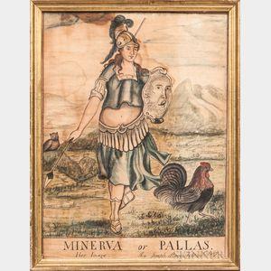 Joseph Stone (act. Framingham, Massachusetts, Early 19th Century)      Minerva or Pallas Her Image