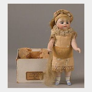 French-type All Bisque Doll in Original Box