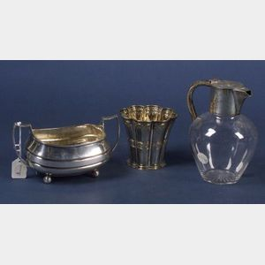 Two English Silver and Silver Mounted Tablewares