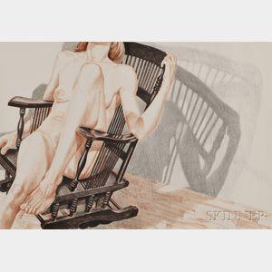 Philip Pearlstein (American, b. 1924)      Nude in Rocker