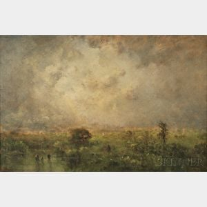 George Inness, Jr. (American, 1854-1926)      Clearing Showers