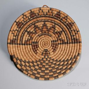 Hopi Second Mesa Coiled Pictorial Tray