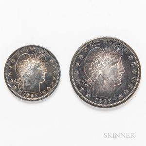 1893-S Barber Half Dollar and Quarter