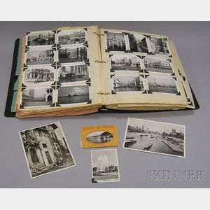 Album of European Travel Postcards, Photographs, and Ephemera