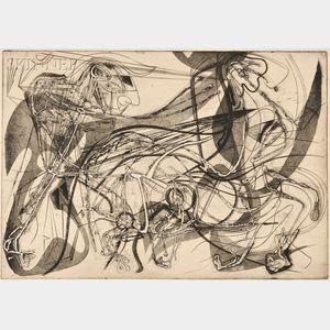 Andre Racz (American, 1916-1994)      Slaying of the Centaur