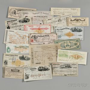 Checks, Collection of 323 19th Century Examples.