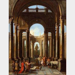 Manner of Giovanni Paolo Panini (Italian, 1691-1765)    The Sacrifice