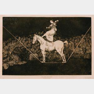 Francisco de Goya (Spanish, 1746-1828)      Disparate Puntual - Una Reina del Circo