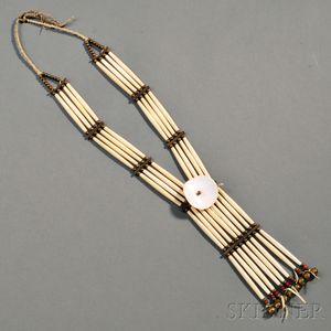 Lakota Woman's Hairpipe Necklace