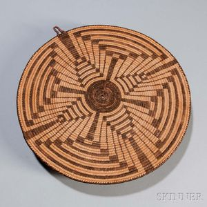 Pima Coiled Basketry Plaque