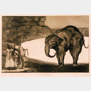 Francisco de Goya (Spanish, 1746-1828)      Disparate de Bestia - Otras Leyes Por el Pueblo