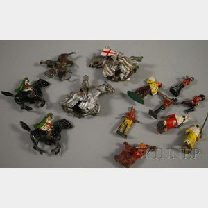 Fifteen Assorted Painted Lead Toy Figures