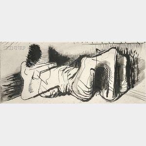 Henry Moore (British, 1898-1986)      Reclining Figure II