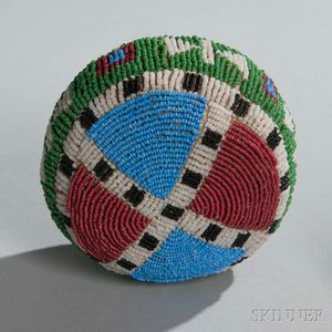 Large Sioux Beaded Hide Ball