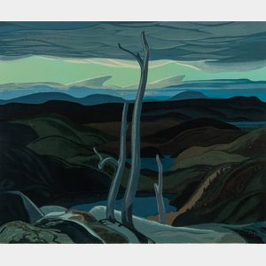 Franklin Carmichael (Canadian, 1890-1945)      Evening, North Shore, Lake Superior