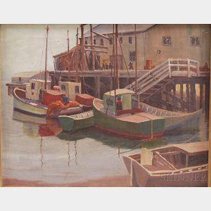 Hazel Fetterley Boehme (American, 1900-1941)      Harbor View.
