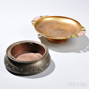 Tiffany Bulb Bowl and Tazza