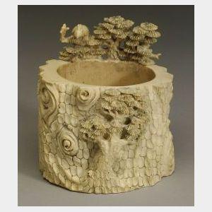 Small Ivory Brush Pot