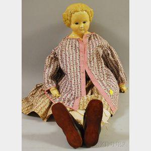 Large Blond M & S Superior Papier-mache Doll