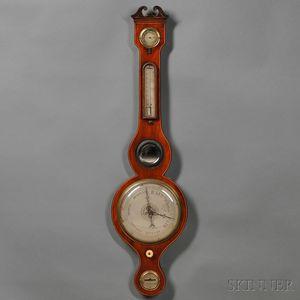 Toniere Mahogany Wheel Barometer