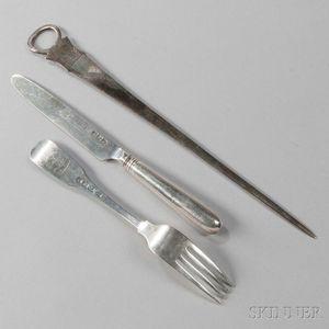 Twenty-two Pieces of George III Irish Sterling Silver Flatware