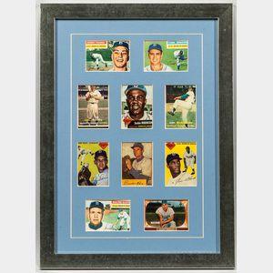 Ten 1950s-era Baseball Cards Including Jackie Robinson Brooklyn Dodgers Card