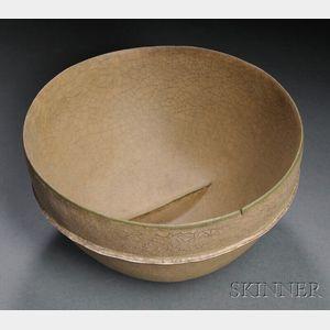 Sold for: $2,520 - Richard DeVore (1933-2006) Vessel