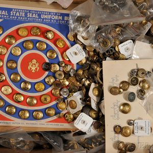 Collection of Military and Civilian Buttons